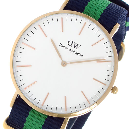 ダニエル ウェリントン ワーウィック/ローズ 40mm クオーツ 腕時計 0105DW (DW00100005) ホワイト