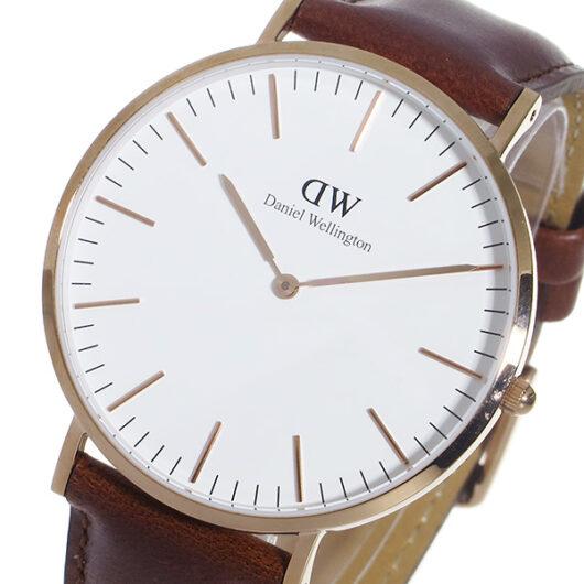 ダニエル ウェリントン セントアンドリュース/ローズ 40mm クオーツ 腕時計 0106DW (DW00100006) ホワイト