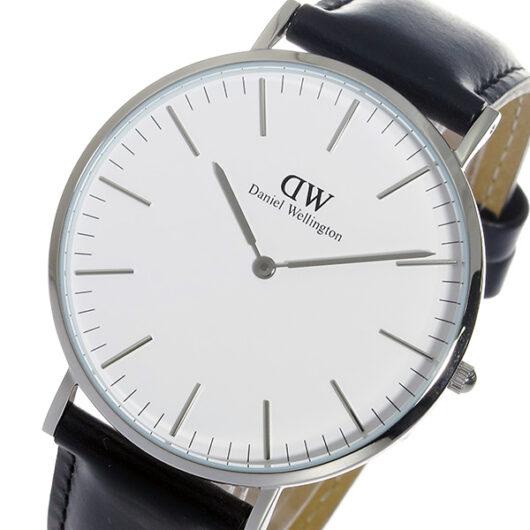 ダニエル ウェリントン シェフィールド/シルバー 40mm クオーツ 腕時計 0206DW (DW00100020) ホワイト