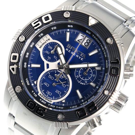 インヴィクタ INVICTA クオーツ クロノ メンズ 腕時計 10588 ブルー ブルー