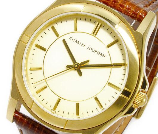 シャルル ジョルダン CHARLES JOURDAN クオーツ メンズ 腕時計 133.11.6 ゴールド
