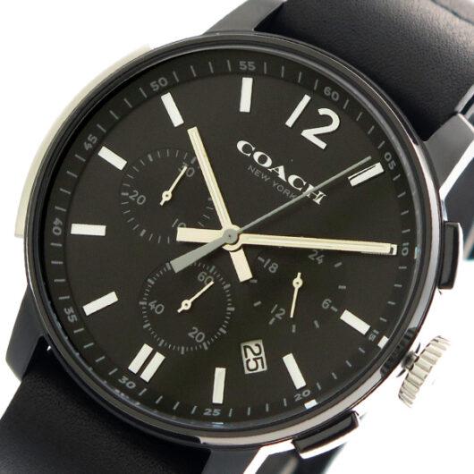コーチ COACH 腕時計 メンズ 14602021 クォーツ ブラック ブラック