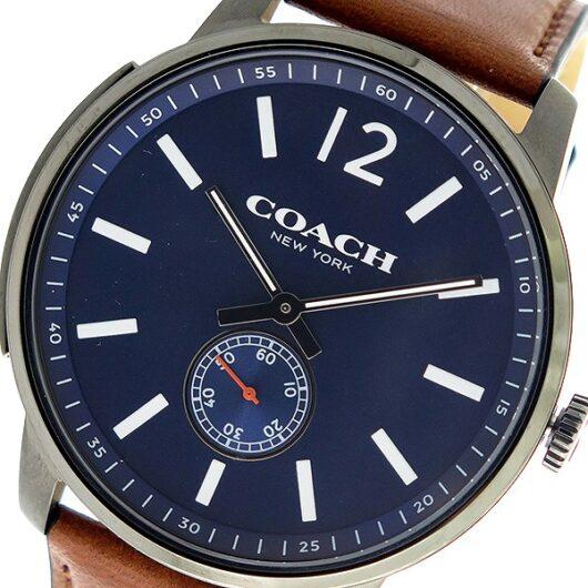コーチ COACH ブリーカー Bleecker クオーツ メンズ 腕時計 14602083 ネイビー/ブラウン ネイビー