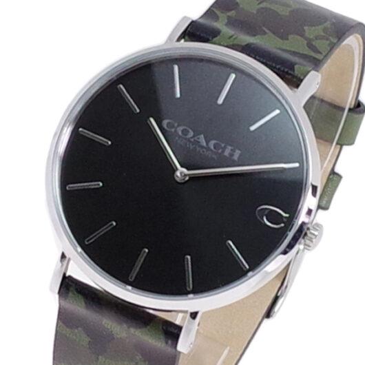 コーチ COACH 腕時計 メンズ 14602154 クォーツ ブラック カモフラージュ