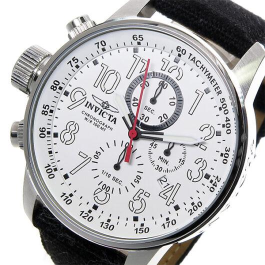 インヴィクタ INVICTA クロノ クオーツ メンズ 腕時計 1514 ホワイト ホワイト