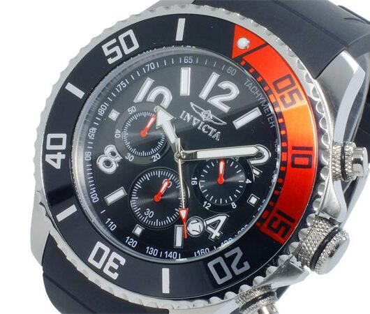 インヴィクタ INVICTA クオーツ クロノ メンズ 腕時計 15145 ブラック