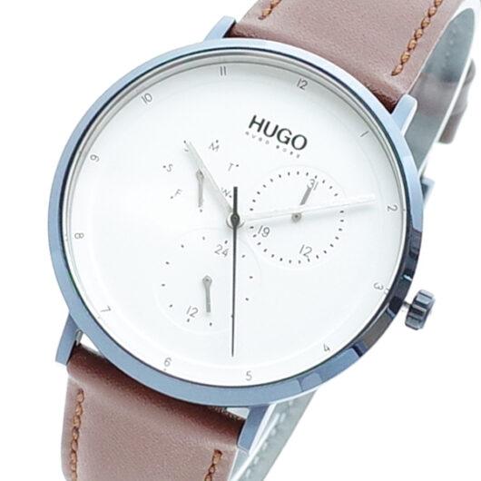 ヒューゴボス HUGO BOSS 腕時計 メンズ 1530008 クォーツ ホワイト ブラウン