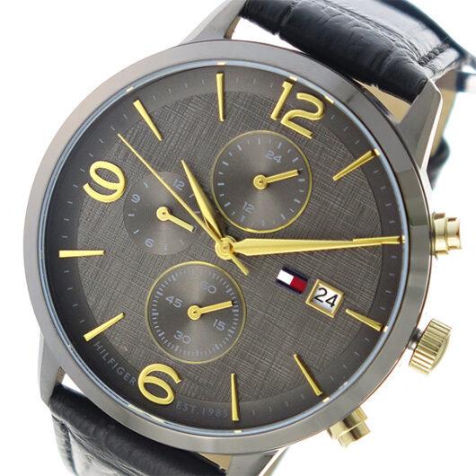 トミー ヒルフィガー TOMMY HILFIGER クオーツ メンズ 腕時計 1710357 チャコール チャコール