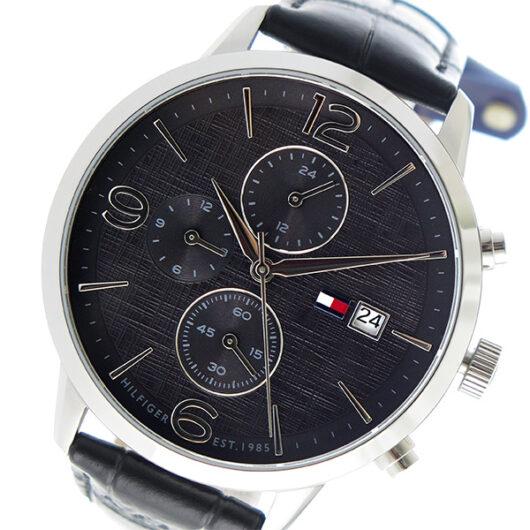 トミー ヒルフィガー TOMMY HILFIGER クオーツ メンズ 腕時計 1710361 ブラック ブラック