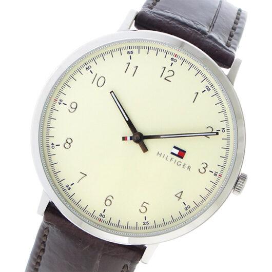 トミー ヒルフィガー TOMMY HILFIGER  クオーツ メンズ 腕時計 1791338 アイボリー アイボリー