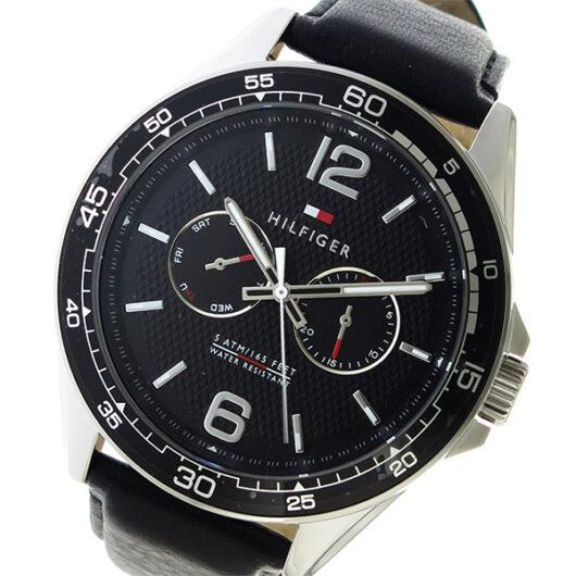 トミー ヒルフィガー TOMMY HILFIGER  クオーツ メンズ 腕時計 1791369 ブラック ブラック