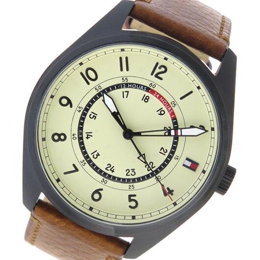 トミー ヒルフィガー TOMMY HILFIGER  クオーツ メンズ 腕時計 1791372 アイボリー アイボリー