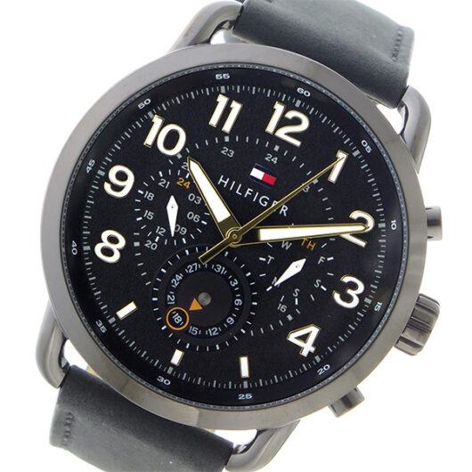 トミー ヒルフィガー TOMMY HILFIGER  クロノ クオーツ メンズ 腕時計 1791426 ブラック ブラック
