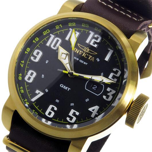 インヴィクタ INVICTA クオーツ メンズ 腕時計 18888 ブラック/ゴールド ブラック