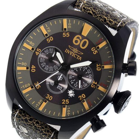 インヴィクタ INVICTA クオーツ クロノ メンズ 腕時計 19671 ブラック ブラック