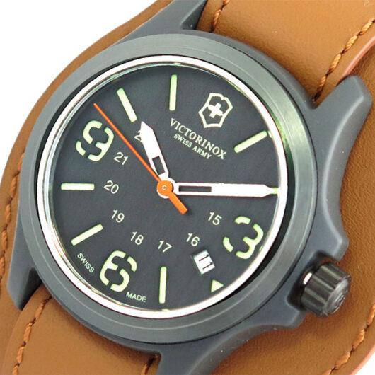 ビクトリノックス VICTORINOX 腕時計 メンズ 241593 クォーツ ブラック ブラウン ブラック