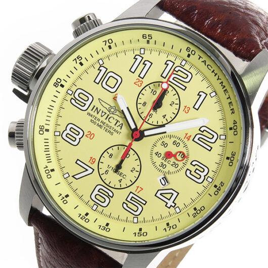インヴィクタ INVICTA クロノ クオーツ メンズ 腕時計 2772 アイボリー アイボリー