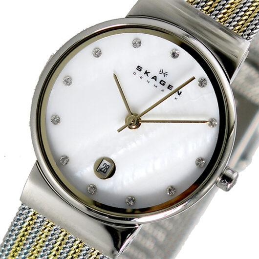 スカーゲン SKAGEN アンカー ANCHER クオーツ レディース 腕時計 355SSGS シェル シェル