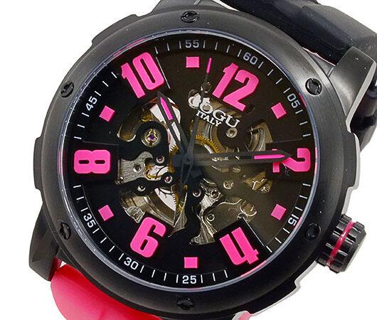 コグ COGU 自動巻 メンズ 腕時計 3SKU-BKP ブラック