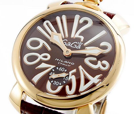 ガガミラノ GAGA MILANO MANUALE 手巻 メンズ 腕時計 5011-01S-BRW ブラウン