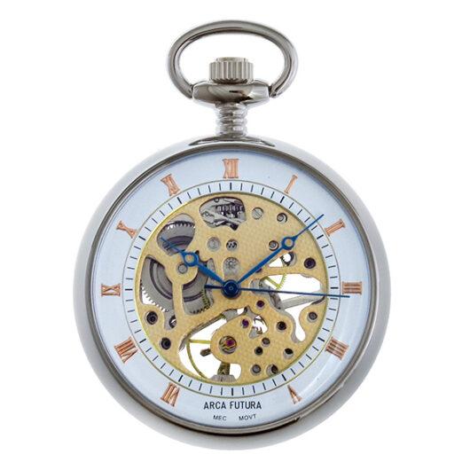 アルカ フトゥーラ ARCA FUTURA 手巻き メンズ 懐中時計 5036CPWRGSK ホワイト/ピンクゴールド ホワイト