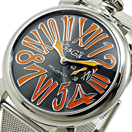 ガガミラノ GAGA MILANO MANUALE マニュアーレ 腕時計 5080.4 ブラック
