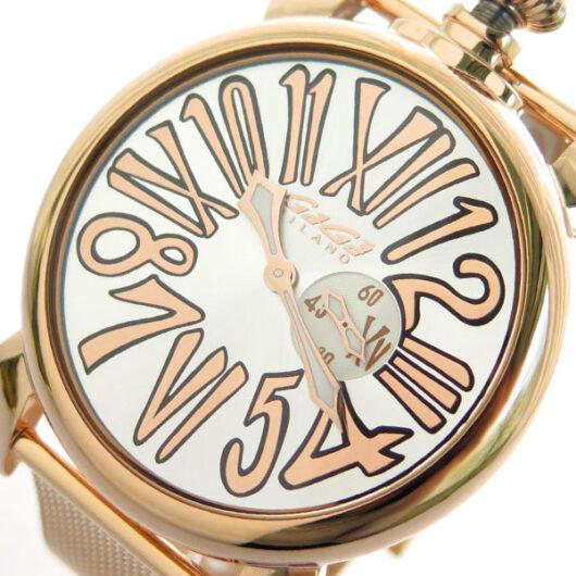 ガガミラノ GAGA MILANO SLIM スリム 46mm 腕時計 クオーツ メンズ 5081.2 ゴールド