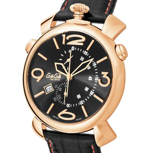 ガガ ミラノ GAGA MILANO クオーツ メンズ 腕時計 5098.02BK ブラック ブラック
