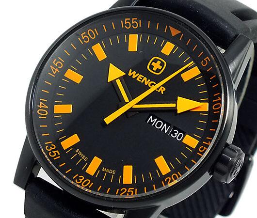 ウェンガー WENGER 腕時計 メンズ 70173 ブラック