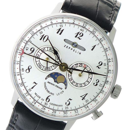 ツェッペリン ZEPPELIN ヒンデンブルク HINDENBURG クオーツ 腕時計 7036-1 シルバー/ブラック シルバー
