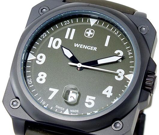 ウェンガー WENGER エアログラフ クオーツ メンズ 腕時計 72422 カーキ