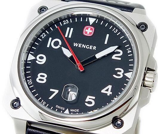 ウェンガー WENGER エアログラフ クオーツ メンズ 腕時計 72425 ブラック