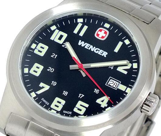 ウェンガー WENGER フィールドクラシック 腕時計 72806 ブラック