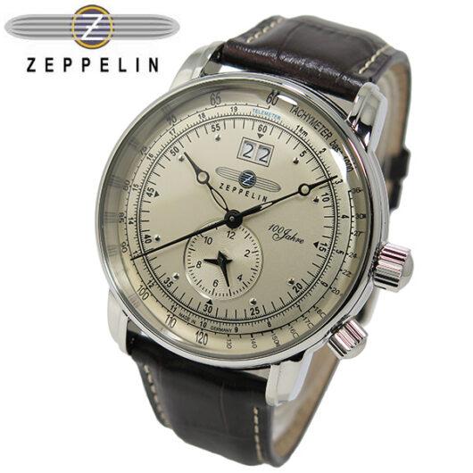 ツェッペリン ZEPPELIN 100周年 記念モデル LZ1 クオーツ メンズ 腕時計 7640-1 アイボリー