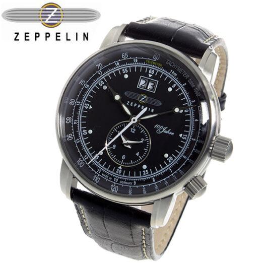 ツェッペリン 100周年 記念モデル LZ1 クオーツ メンズ 腕時計 7640-2 ブラック ブラック