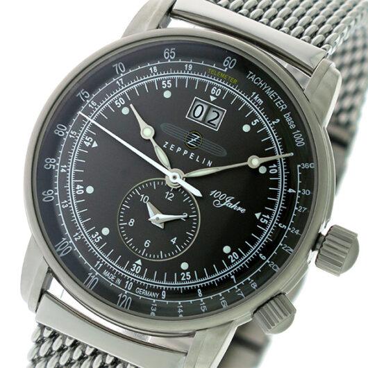 ツェッペリン ZEPPELIN 100周年記念モデル クオーツ メンズ 腕時計 7640M-2 メタルグレー/シルバー メタルグレー