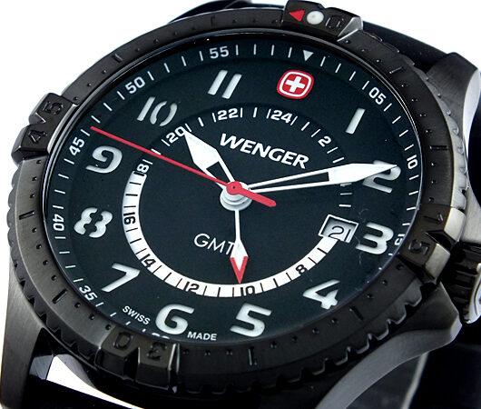 ウェンガー WENGER スクアドロン ジーエムティー 腕時計 77073 ブラック