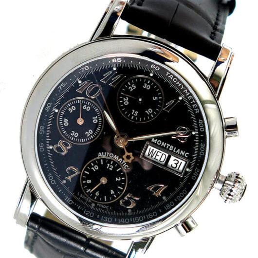 モンブラン MONTBLANC スターアリゲーターレザー 自動巻き メンズ 腕時計 8451 ブラック ブラック