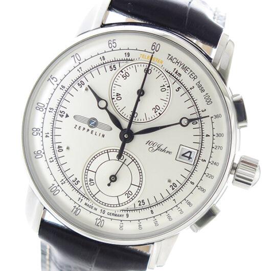 ツェッペリン ZEPPELIN LZ1 100周年記念モデル クロノ クオーツ メンズ 腕時計 8670-1 シルバー シルバー