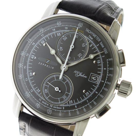 ツェッペリン ZEPPELIN LZ1 100周年記念モデル クロノ クオーツ メンズ 腕時計 8670-2 メタルグレー メタルグレー