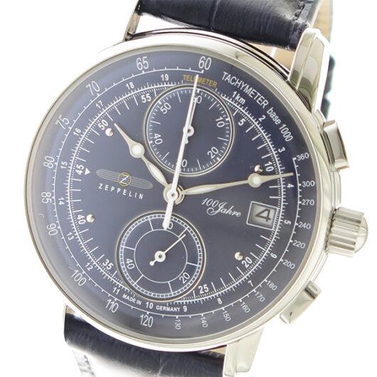 ツェッペリン ZEPPELIN LZ1 100周年記念モデル クロノ クオーツ メンズ 腕時計 8670-3 ネイビー ネイビー