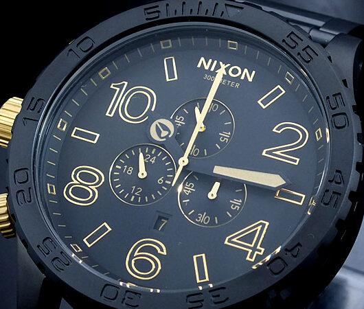ニクソン NIXON 51-30 CHRONO 腕時計 A083-1041 MATTE BLACK GOLD ブラック