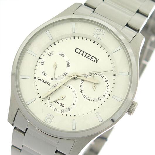 シチズン CITIZEN   クオーツ メンズ 腕時計 AG8351-86A ホワイトシルバー/シルバー ホワイト