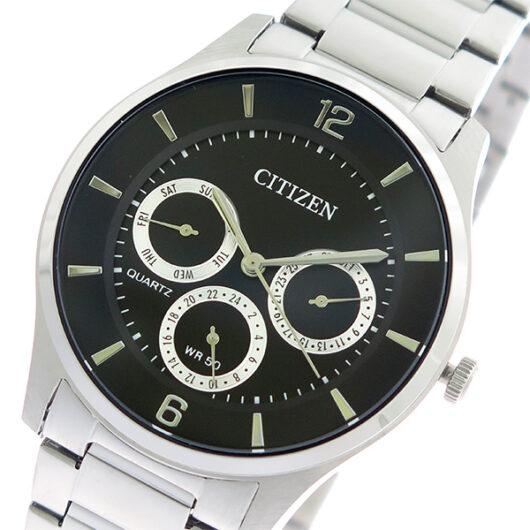シチズン CITIZEN  クオーツ メンズ 腕時計 AG8351-86E ブラック/シルバー ブラック