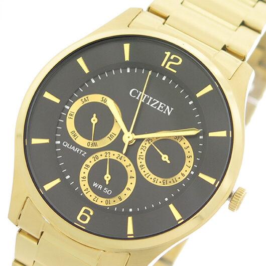 シチズン CITIZEN   クオーツ メンズ 腕時計 AG8353-81E ブラック/ゴールド ブラック
