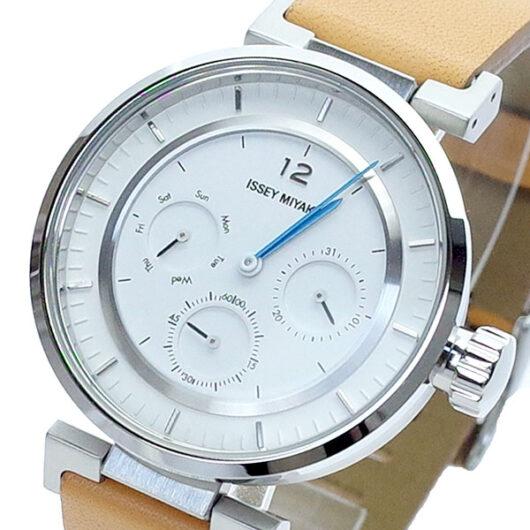 イッセイ ミヤケ ISSEY MIYAKE 腕時計 メンズ SILAAB03 クォーツ ホワイト ブラウン