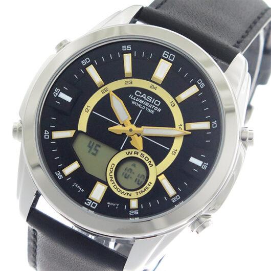 【希少逆輸入モデル】 カシオ CASIO  クオーツ メンズ 腕時計 AMW-810L-1A ブラック/ブラック ブラック