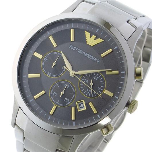 エンポリオ アルマーニ EMPORIO ARMANI  レナート RENATOクオーツ メンズ 腕時計 AR11047 グレー グレー