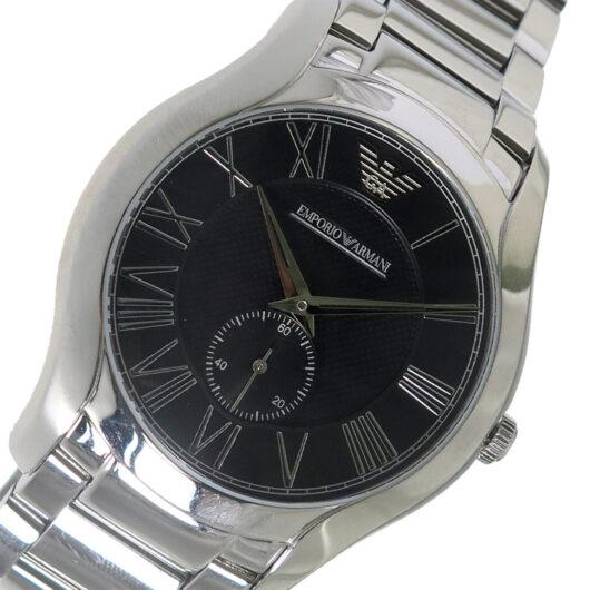 エンポリオ アルマーニ EMPORIO ARMANI クオーツ メンズ 腕時計 AR11086 ブラック ブラック