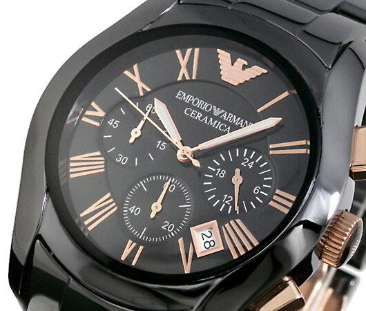 エンポリオ アルマーニ EMPORIO ARMANI CERAMICA 腕時計 AR1410 ブラック